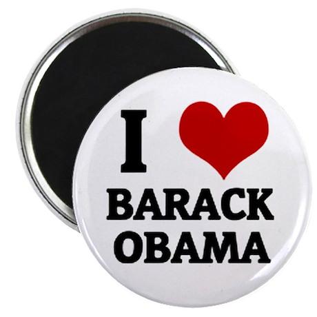 I Love Barack Obama Magnet