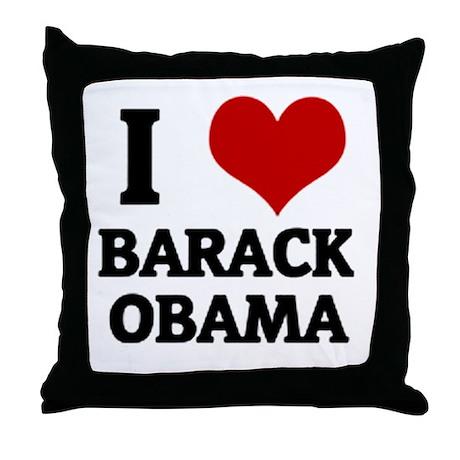 I Love Barack Obama Throw Pillow