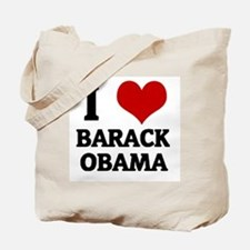 I Love Barack Obama Tote Bag