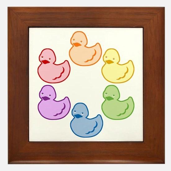 duckie-rainbow-row_tr2.png Framed Tile