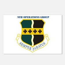 9th Operations Group with Text Postcards (Package