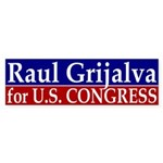 Raul Grijalva for Congress Sticker (Bump