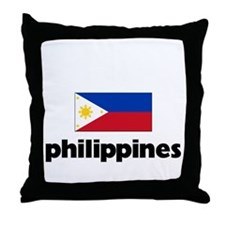 I HEART PHILIPPINES FLAG Throw Pillow