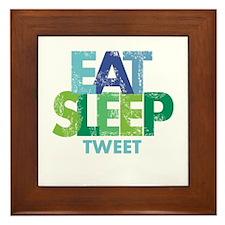EAT SLEEP TWEET Framed Tile