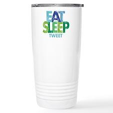 EAT SLEEP TWEET Travel Mug