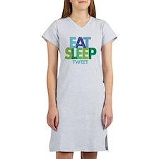 EAT SLEEP TWEET Women's Nightshirt