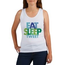 EAT SLEEP TWEET Women's Tank Top