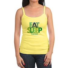 EAT SLEEP TWEET Ladies Top