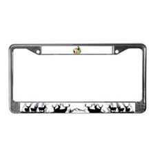 Doe and fawn deer License Plate Frame