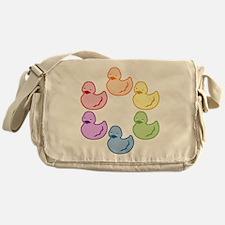 duckie-rainbow-row_tr2.png Messenger Bag