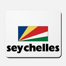 I HEART SEYCHELLES FLAG Mousepad