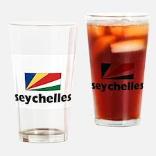 I HEART SEYCHELLES FLAG Drinking Glass