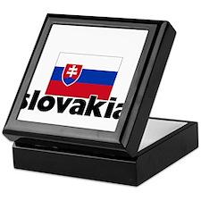 I HEART SLOVAKIA FLAG Keepsake Box