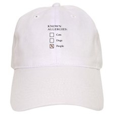 Known Allergies - cats, dogs, people Baseball Cap