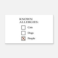 Known Allergies - cats, dogs, people Rectangle Car