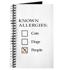Known Allergies - cats, dogs, people Journal