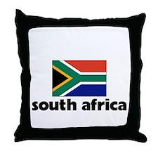 I HEART SOUTH AFRICA FLAG Throw Pillow
