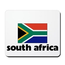 I HEART SOUTH AFRICA FLAG Mousepad