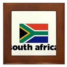 I HEART SOUTH AFRICA FLAG Framed Tile