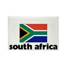I HEART SOUTH AFRICA FLAG Rectangle Magnet