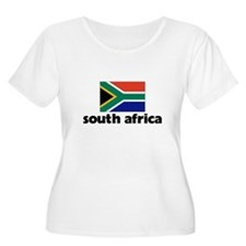 I HEART SOUTH AFRICA FLAG Plus Size T-Shirt