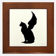 Angel Cat Framed Tile