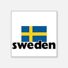I HEART SWEDEN FLAG Sticker