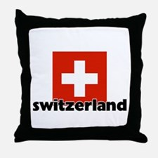 I HEART SWITZERLAND FLAG Throw Pillow