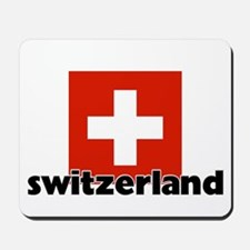 I HEART SWITZERLAND FLAG Mousepad