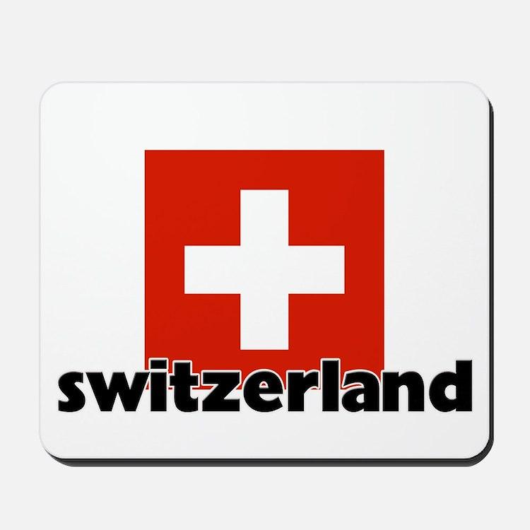I HEART SWITZERLAND FLAG Mousepad
