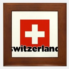 I HEART SWITZERLAND FLAG Framed Tile
