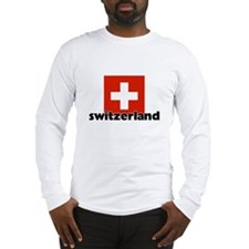 I HEART SWITZERLAND FLAG Long Sleeve T-Shirt