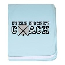 Field Hockey Coach baby blanket