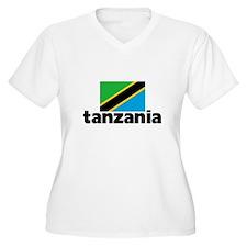 I HEART TANZANIA FLAG Plus Size T-Shirt