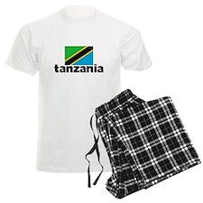 I HEART TANZANIA FLAG Pajamas