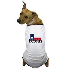 I HEART TEXAS FLAG Dog T-Shirt