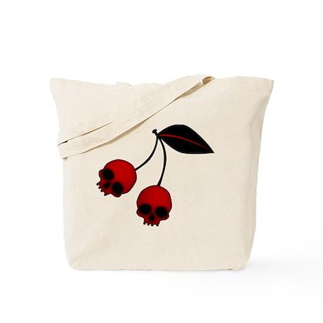Skull Cherries Tote Bag