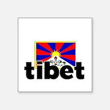 I HEART TIBET FLAG Sticker
