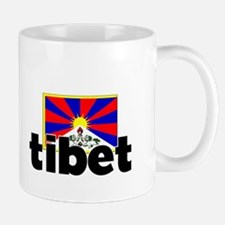 I HEART TIBET FLAG Mug