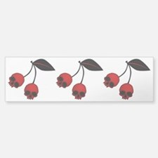 Skull Cherries Bumper Bumper Sticker