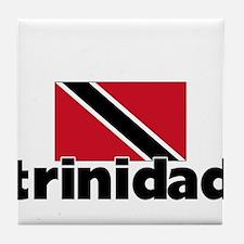 I HEART TRINIDAD FLAG Tile Coaster
