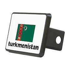 I HEART TURKMENISTAN FLAG Hitch Cover