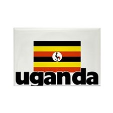 I HEART UGANDA FLAG Rectangle Magnet