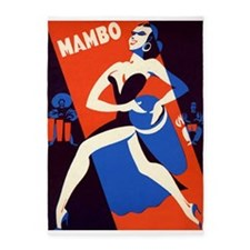 Mambo, Conga, Drums, Vintage Poster 5'x7'Area Rug