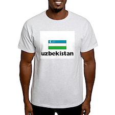 I HEART UZBEKISTAN FLAG T-Shirt