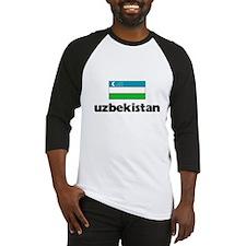 I HEART UZBEKISTAN FLAG Baseball Jersey