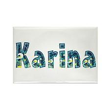 Karina Under Sea Rectangle Magnet