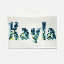 Kayla Under Sea Rectangle Magnet