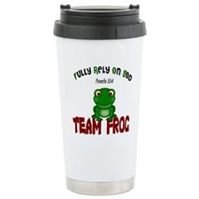 team frog Travel Mug