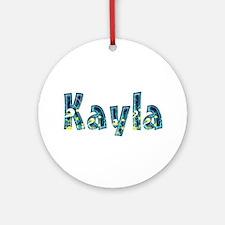 Kayla Under Sea Round Ornament